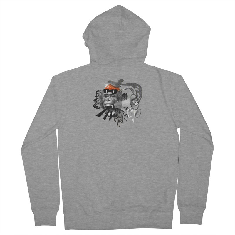 Chimpanscream Men's French Terry Zip-Up Hoody by Emojo's Artist Shop