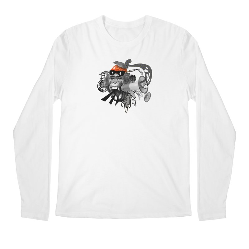 Chimpanscream Men's Regular Longsleeve T-Shirt by Emojo's Artist Shop