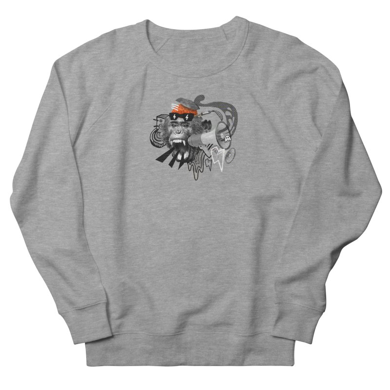 Chimpanscream Women's French Terry Sweatshirt by Emojo's Artist Shop