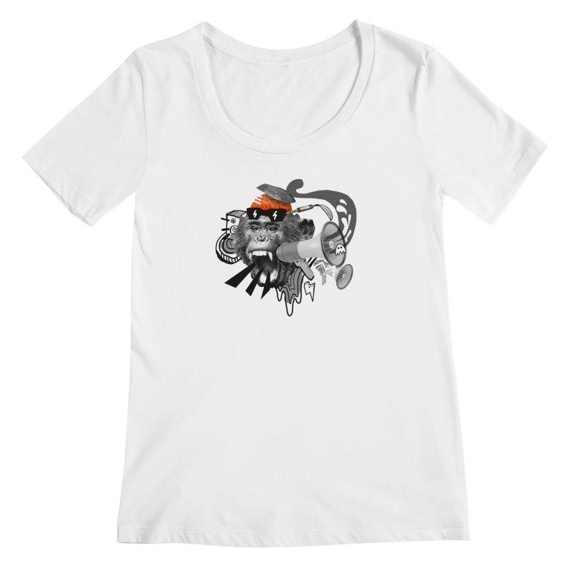 Chimpanscream Women's Scoopneck by Emojo's Artist Shop