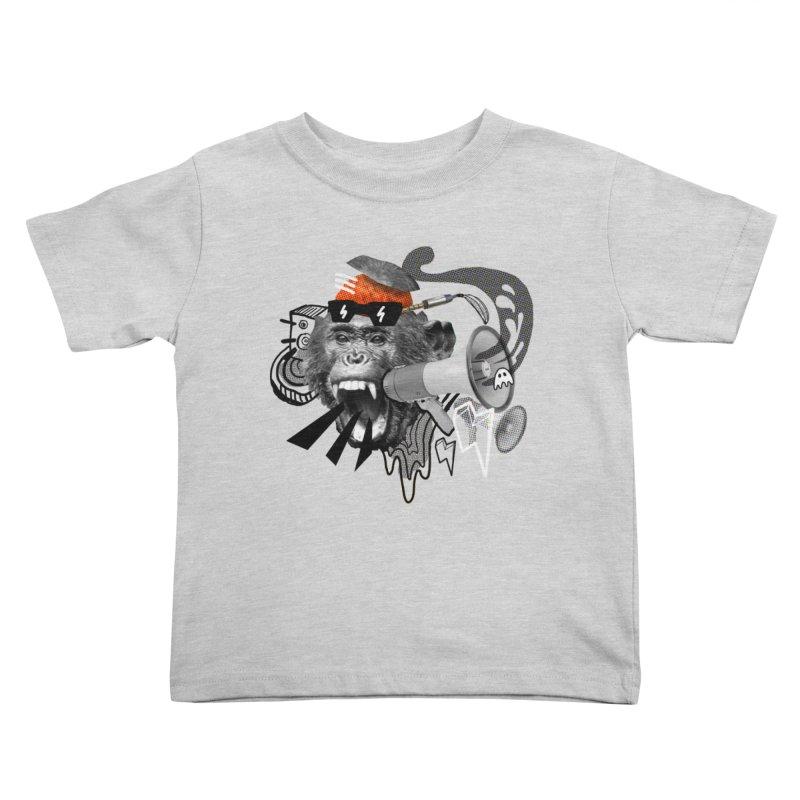 Chimpanscream Kids Toddler T-Shirt by Emojo's Artist Shop