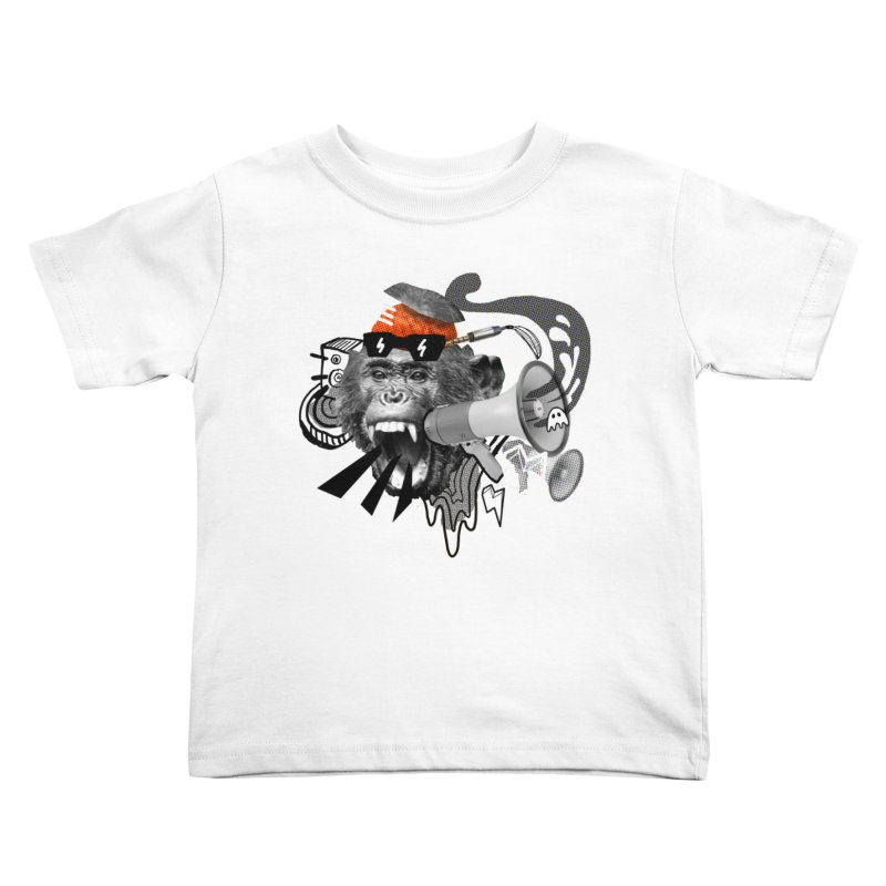 Chimpanscream Kids Toddler T-Shirt by Emojo's Artist Shop