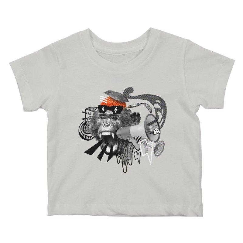 Chimpanscream Kids Baby T-Shirt by Emojo's Artist Shop