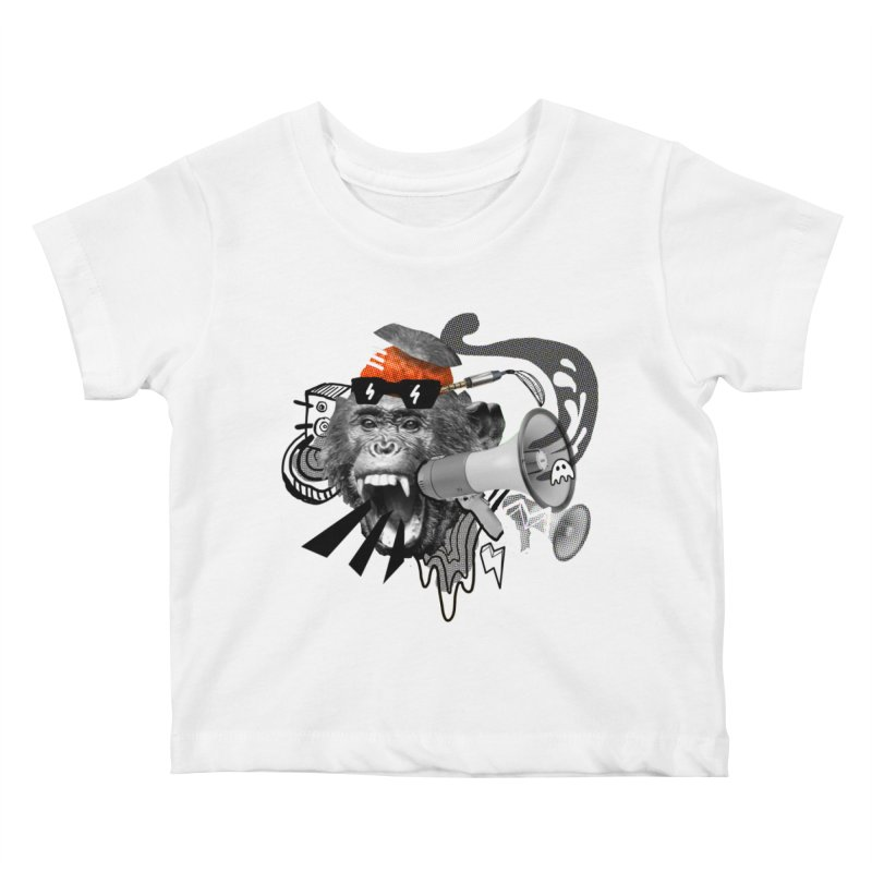 Chimpanscream Kids Baby T-Shirt by Emojo's Artist Shop
