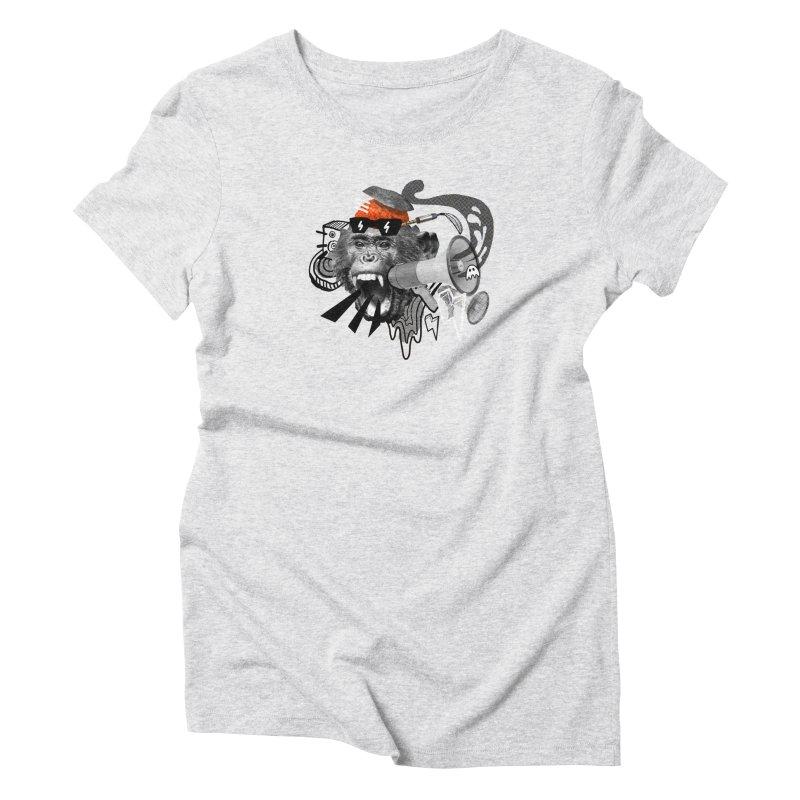 Chimpanscream Women's T-Shirt by Emojo's Artist Shop