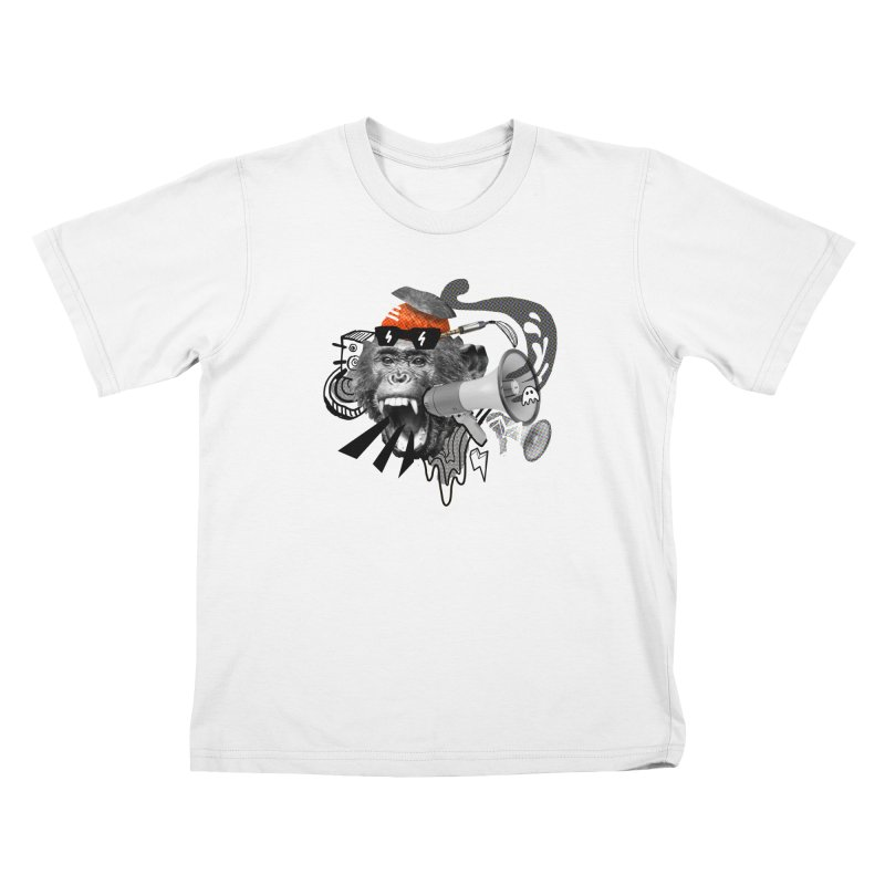 Chimpanscream Kids T-Shirt by Emojo's Artist Shop