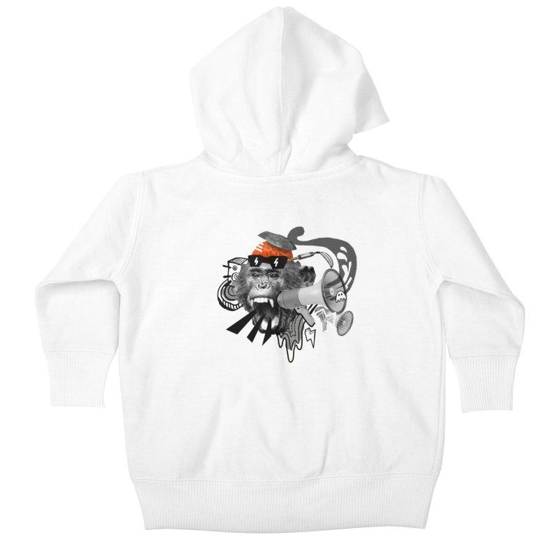 Chimpanscream Kids Baby Zip-Up Hoody by Emojo's Artist Shop