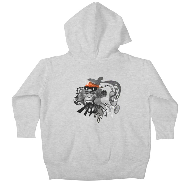 Chimpanscream Kids Baby Zip-Up Hoody by Emojo's Artist Shop