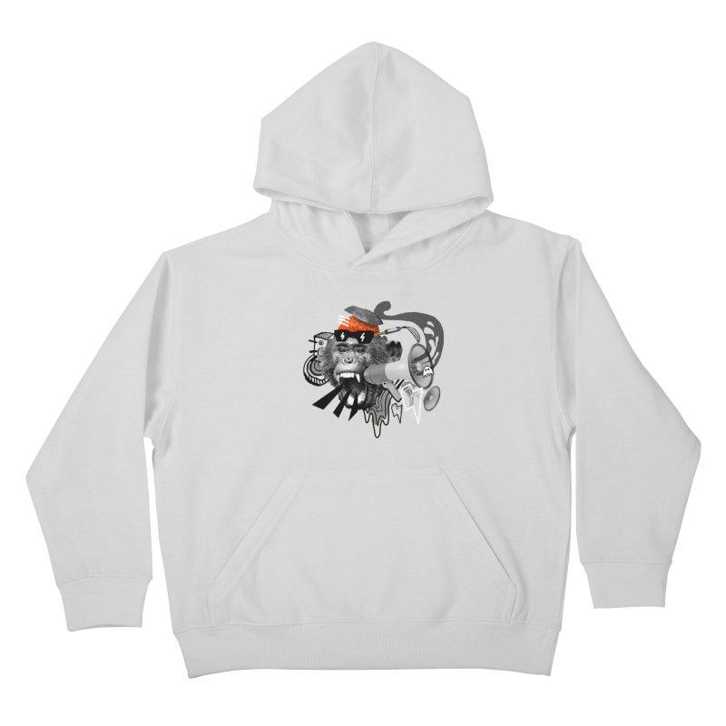 Chimpanscream Kids Pullover Hoody by Emojo's Artist Shop