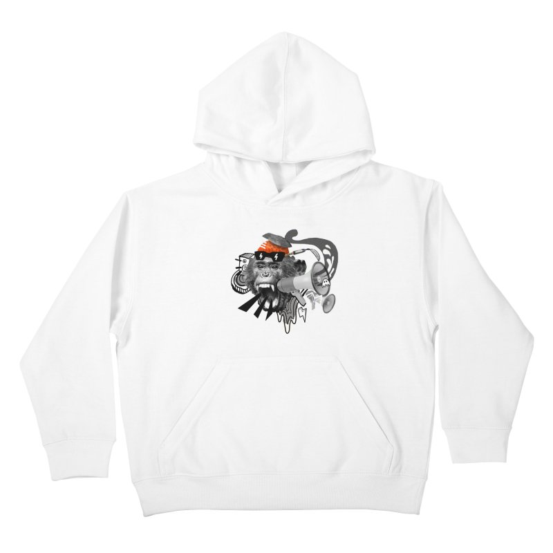 Chimpanscream Kids Pullover Hoody by Emojo's Artist Shop