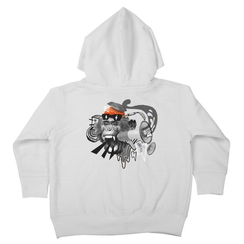Chimpanscream Kids Toddler Zip-Up Hoody by Emojo's Artist Shop