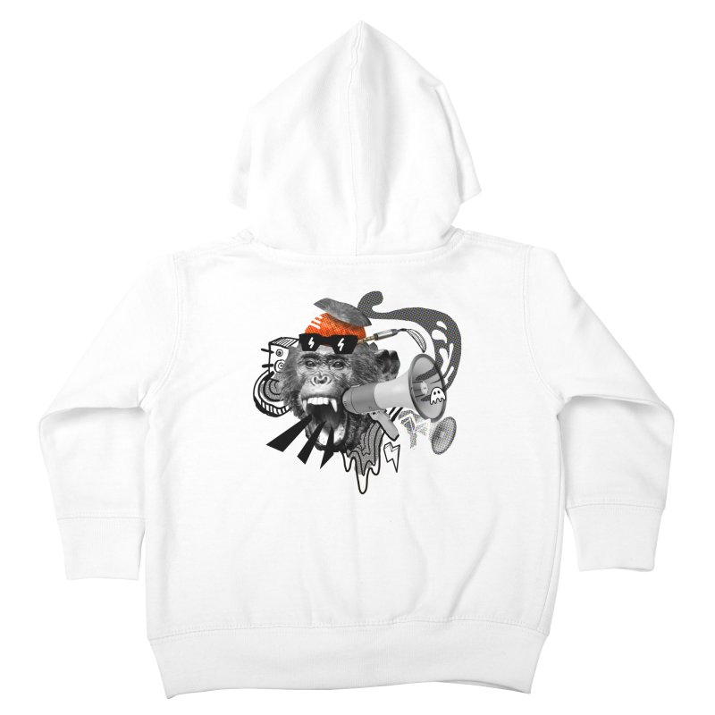 Chimpanscream Kids Toddler Zip-Up Hoody by Emojo's Artist Shop