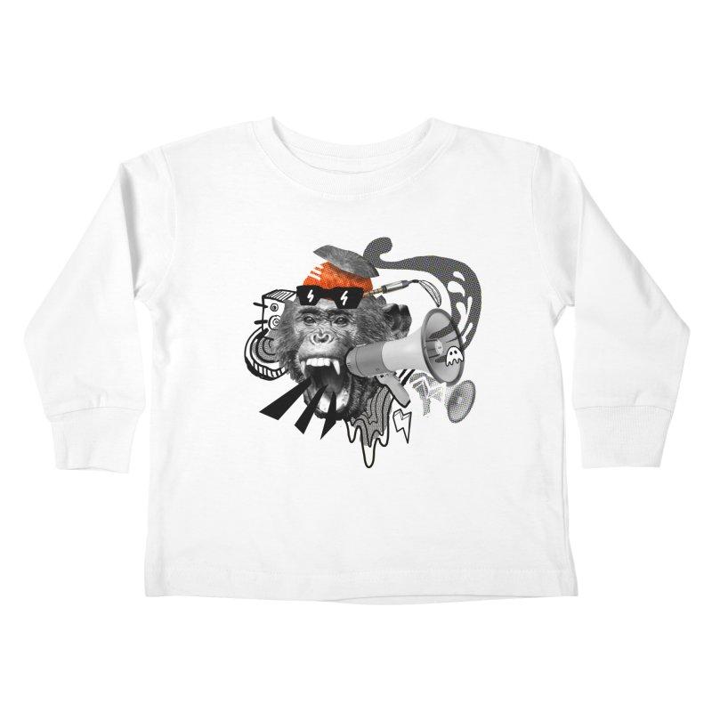 Chimpanscream Kids Toddler Longsleeve T-Shirt by Emojo's Artist Shop