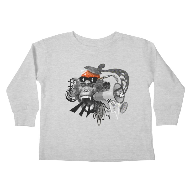 Chimpanscream Kids Toddler Longsleeve T-Shirt by Emojo's Artist Shop