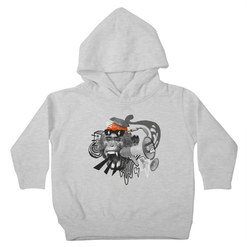 Chimpanscream Kids Toddler Pullover Hoody by Emojo's Artist Shop