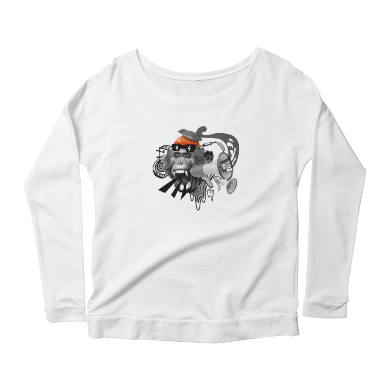Chimpanscream Women's Scoop Neck Longsleeve T-Shirt by Emojo's Artist Shop