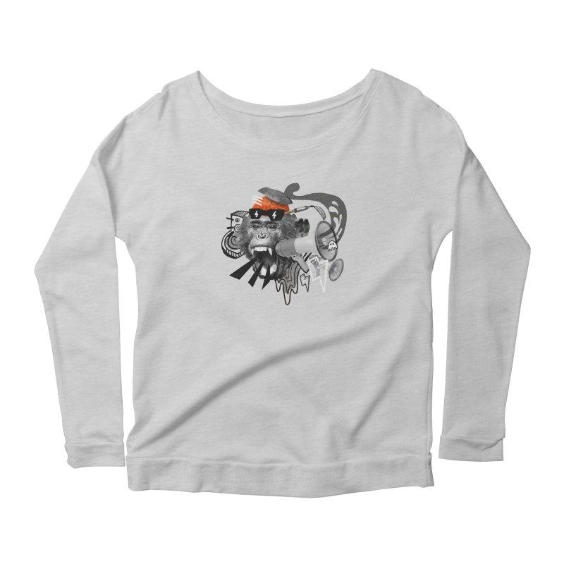 Chimpanscream Women's Scoop Neck Longsleeve T-Shirt by Emojo's Artist Shop