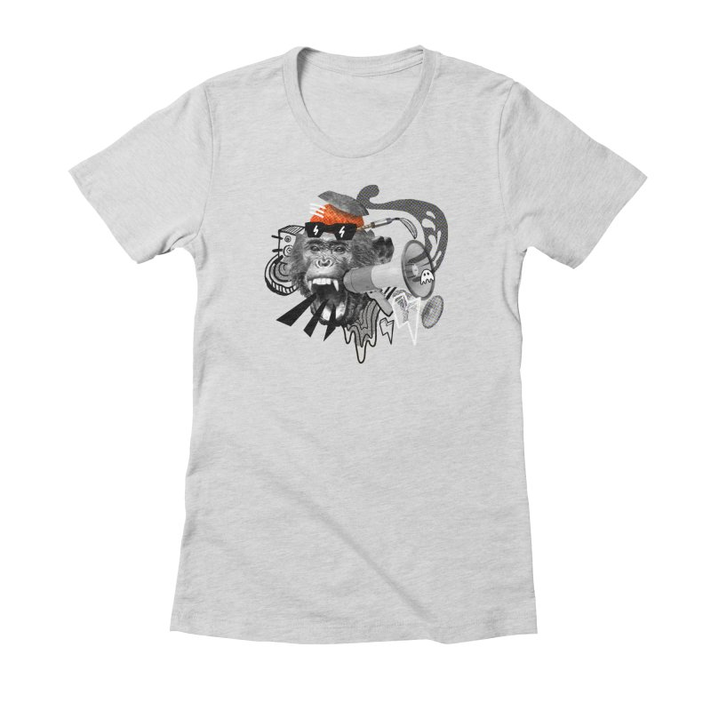 Chimpanscream Women's Fitted T-Shirt by Emojo's Artist Shop