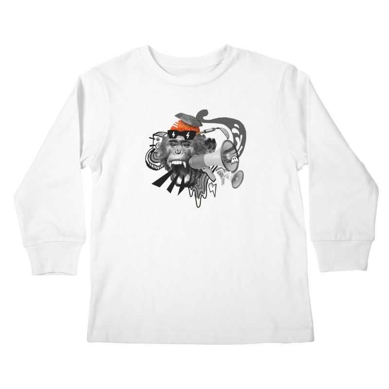 Chimpanscream Kids Longsleeve T-Shirt by Emojo's Artist Shop