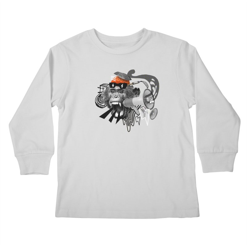 Chimpanscream Kids Longsleeve T-Shirt by Emojo's Artist Shop