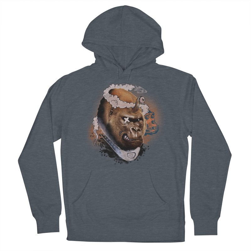 Gorilla from Manilla Women's French Terry Pullover Hoody by Emojo's Artist Shop