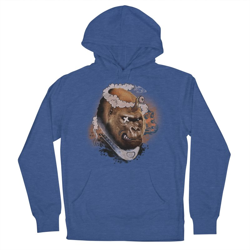 Gorilla from Manilla Men's French Terry Pullover Hoody by Emojo's Artist Shop