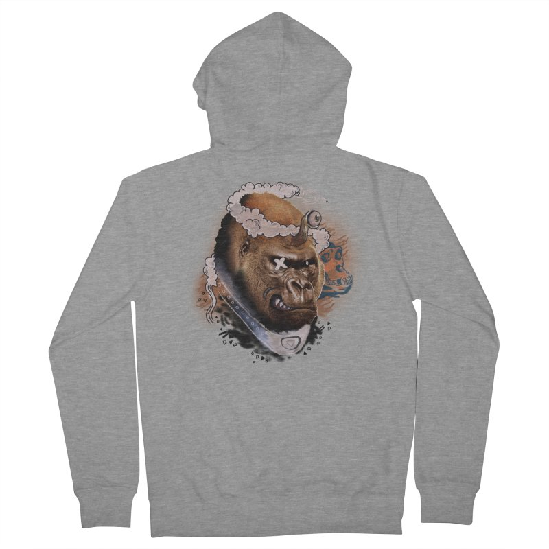 Gorilla from Manilla Women's French Terry Zip-Up Hoody by Emojo's Artist Shop