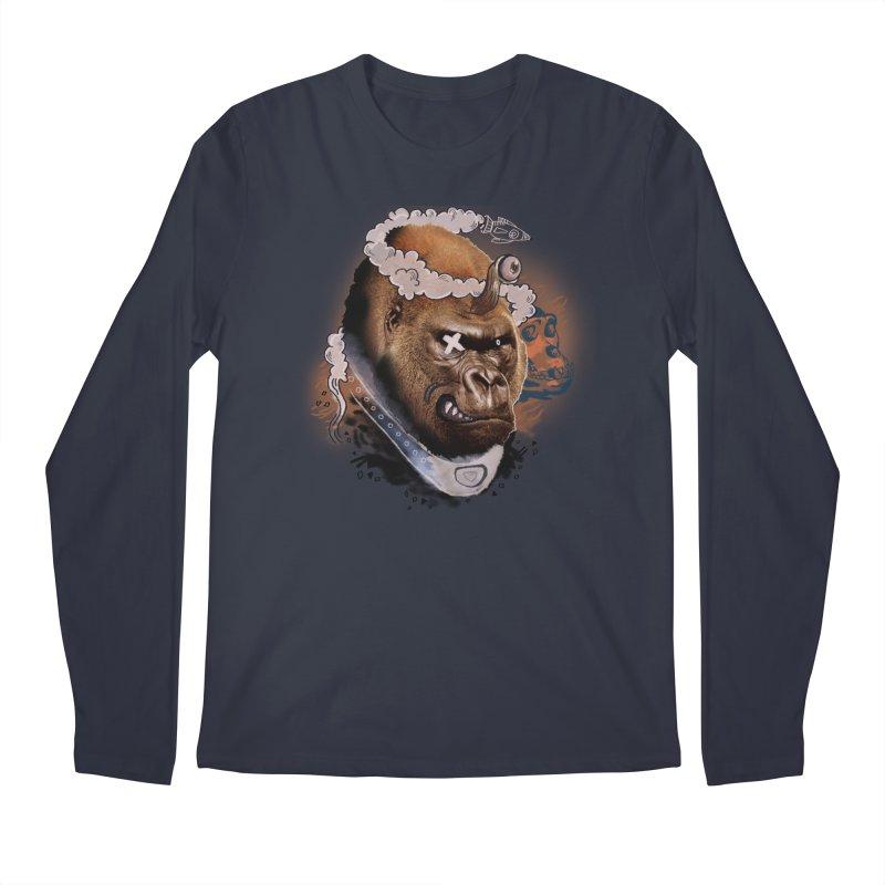 Gorilla from Manilla Men's Regular Longsleeve T-Shirt by Emojo's Artist Shop