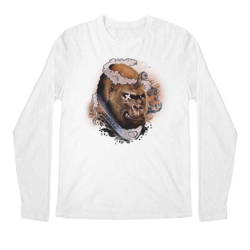Gorilla from Manilla Men's Longsleeve T-Shirt by Emojo's Artist Shop