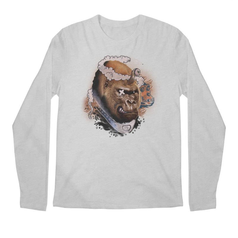 Gorilla from Manilla Men's Regular Longsleeve T-Shirt by Emojo's Artist Shop
