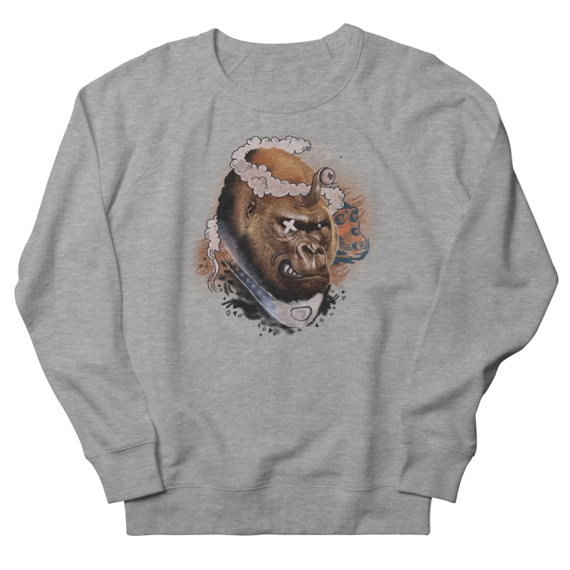 Gorilla from Manilla Women's French Terry Sweatshirt by Emojo's Artist Shop