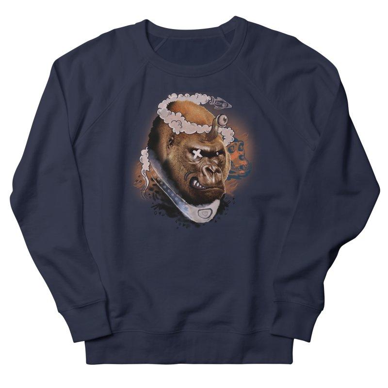 Gorilla from Manilla Women's French Terry Sweatshirt by Emojo's Artist Shop