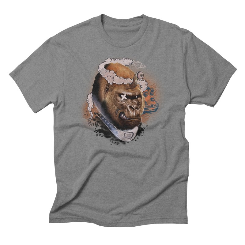 Gorilla from Manilla Men's Triblend T-shirt by Emojo's Artist Shop