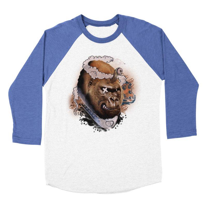 Gorilla from Manilla Women's Baseball Triblend Longsleeve T-Shirt by Emojo's Artist Shop