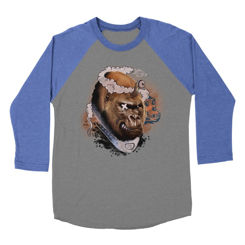 Gorilla from Manilla Men's Baseball Triblend T-Shirt by Emojo's Artist Shop