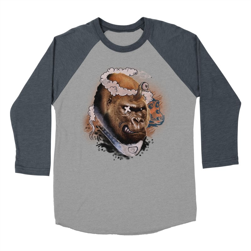 Gorilla from Manilla Men's Baseball Triblend Longsleeve T-Shirt by Emojo's Artist Shop