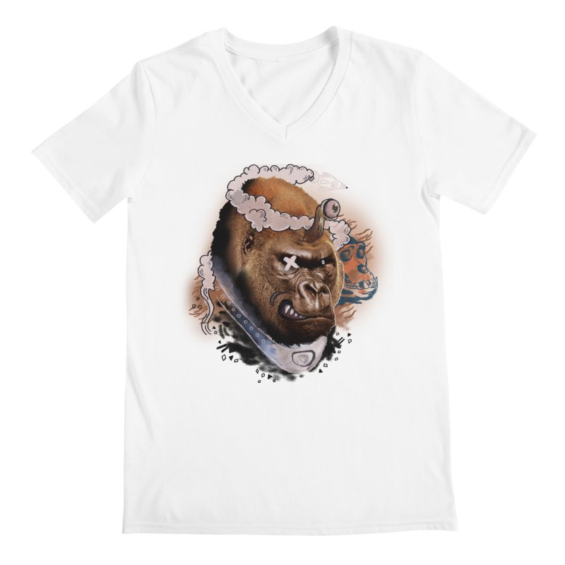 Gorilla from Manilla Men's V-Neck by Emojo's Artist Shop
