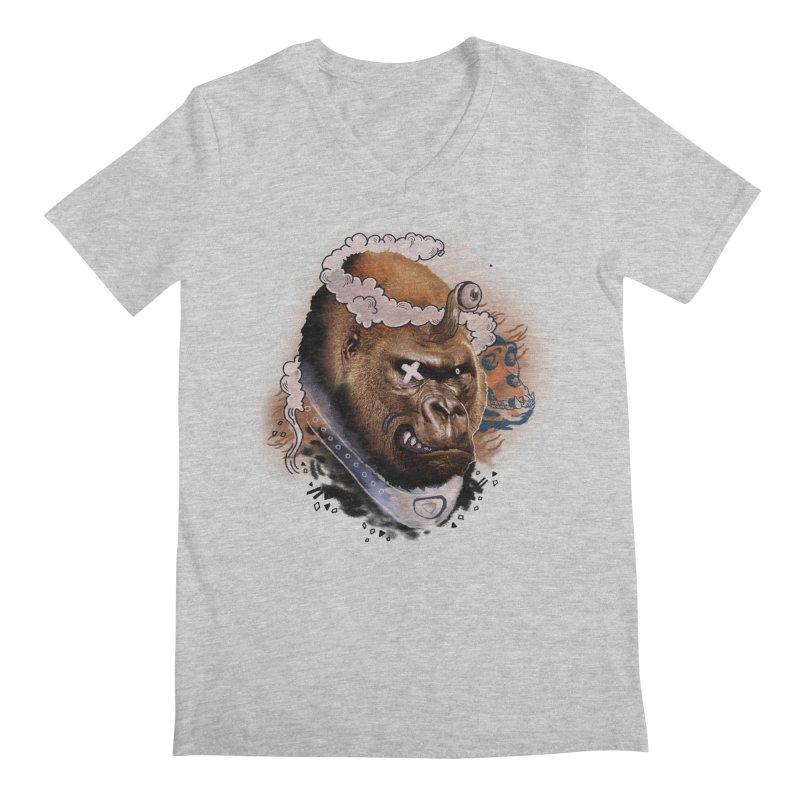 Gorilla from Manilla Men's V-Neck by Emojo's Artist Shop
