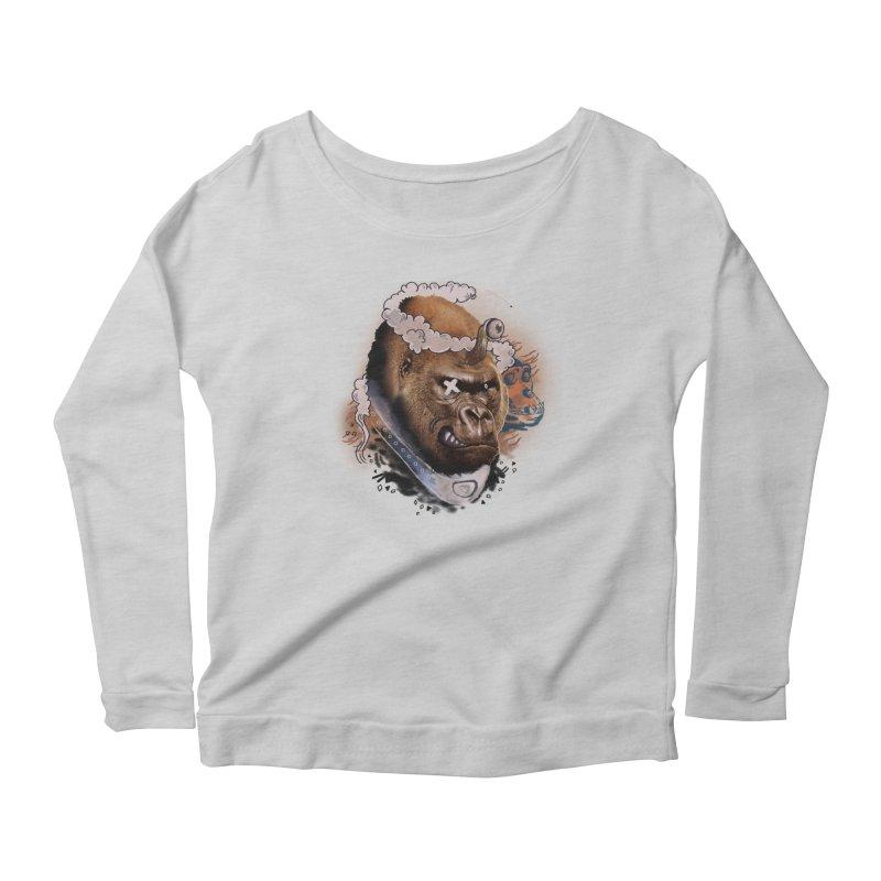 Gorilla from Manilla Women's Scoop Neck Longsleeve T-Shirt by Emojo's Artist Shop