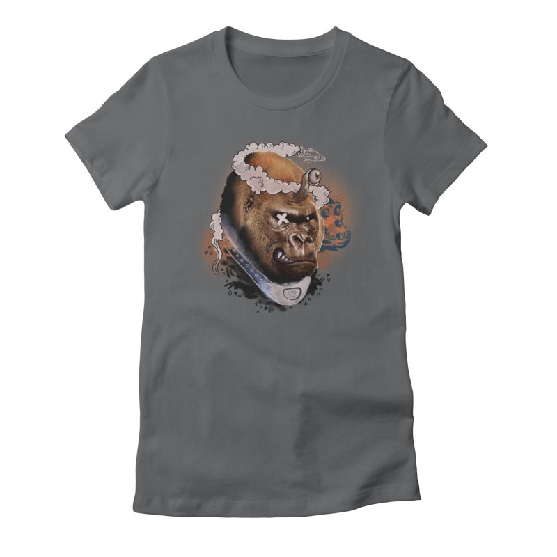 Gorilla from Manilla Women's Fitted T-Shirt by Emojo's Artist Shop