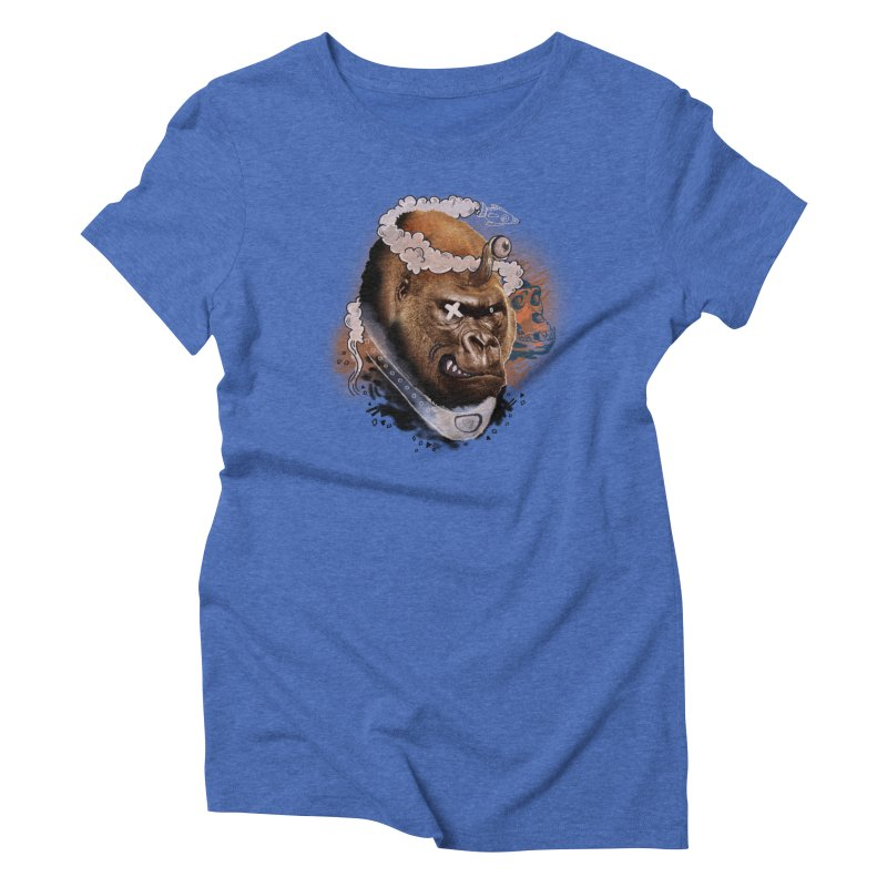 Gorilla from Manilla Women's Triblend T-Shirt by Emojo's Artist Shop