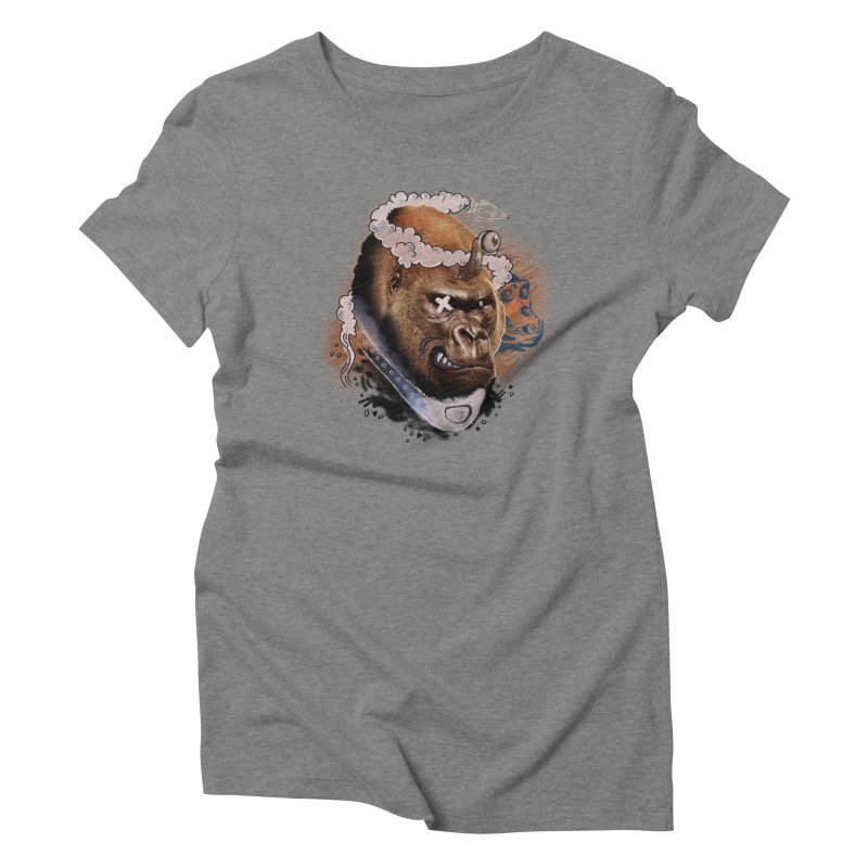 Gorilla from Manilla Women's Triblend T-Shirt by Emojo's Artist Shop