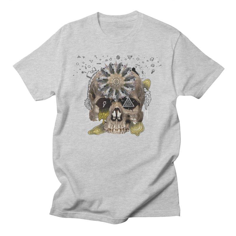 Skull Mandala Men's T-Shirt by Emojo's Artist Shop
