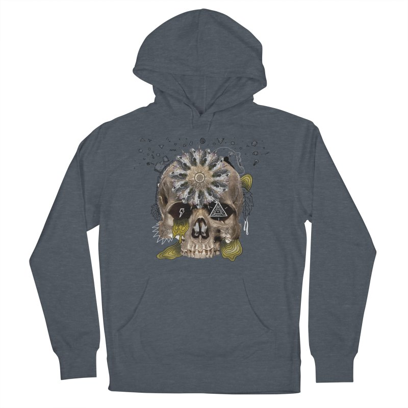 Skull Mandala Women's French Terry Pullover Hoody by Emojo's Artist Shop