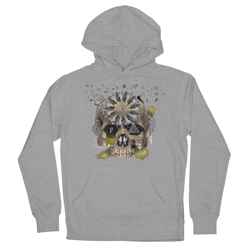 Skull Mandala Women's French Terry Pullover Hoody by Emojo's Artist Shop