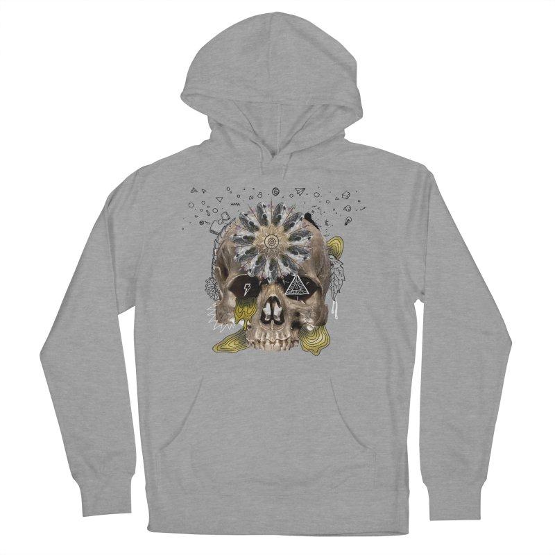 Skull Mandala Men's French Terry Pullover Hoody by Emojo's Artist Shop