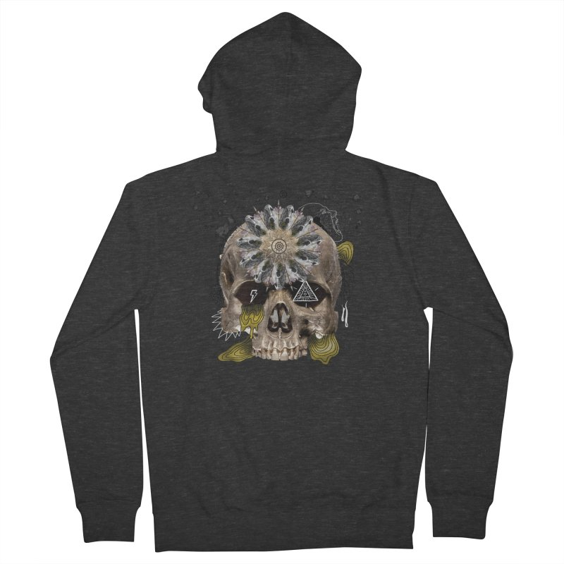 Skull Mandala Women's French Terry Zip-Up Hoody by Emojo's Artist Shop