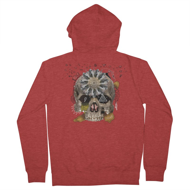 Skull Mandala Women's Zip-Up Hoody by Emojo's Artist Shop