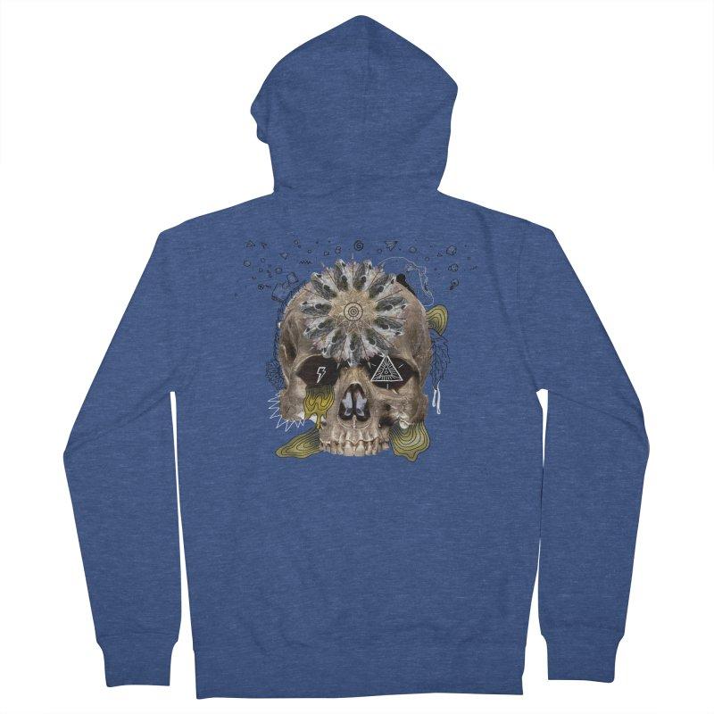 Skull Mandala Men's Zip-Up Hoody by Emojo's Artist Shop