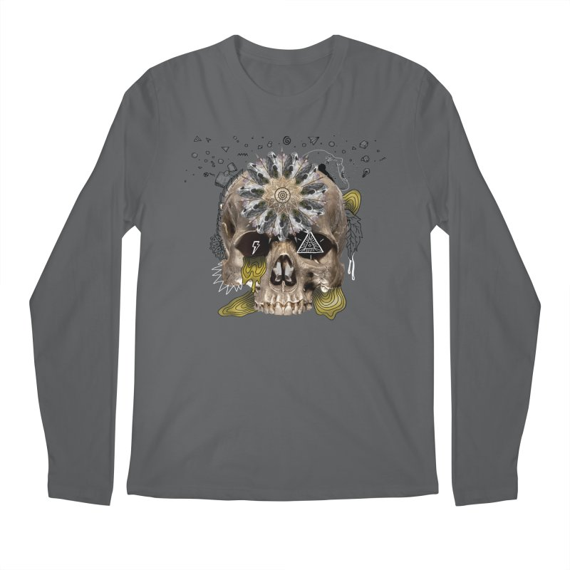 Skull Mandala Men's Longsleeve T-Shirt by Emojo's Artist Shop